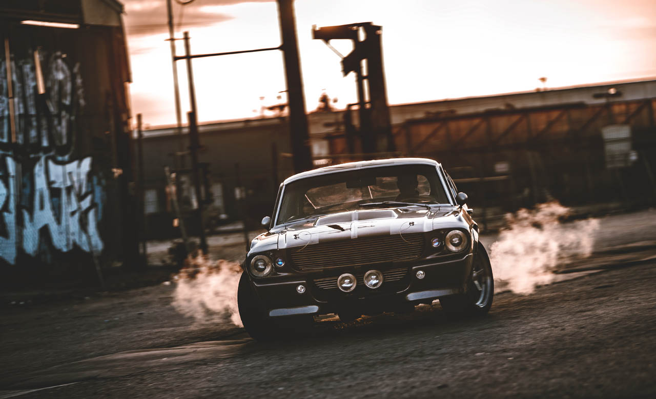 "1967er Ford Mustang ""Eleanor"" in L.A.- Drift"